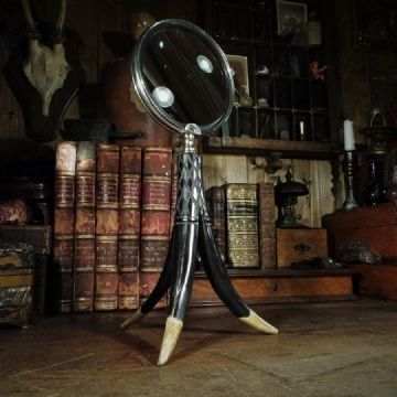 Desk Magnifier on Horn Stand